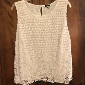 Talbots circle and floral lace blouse 20W